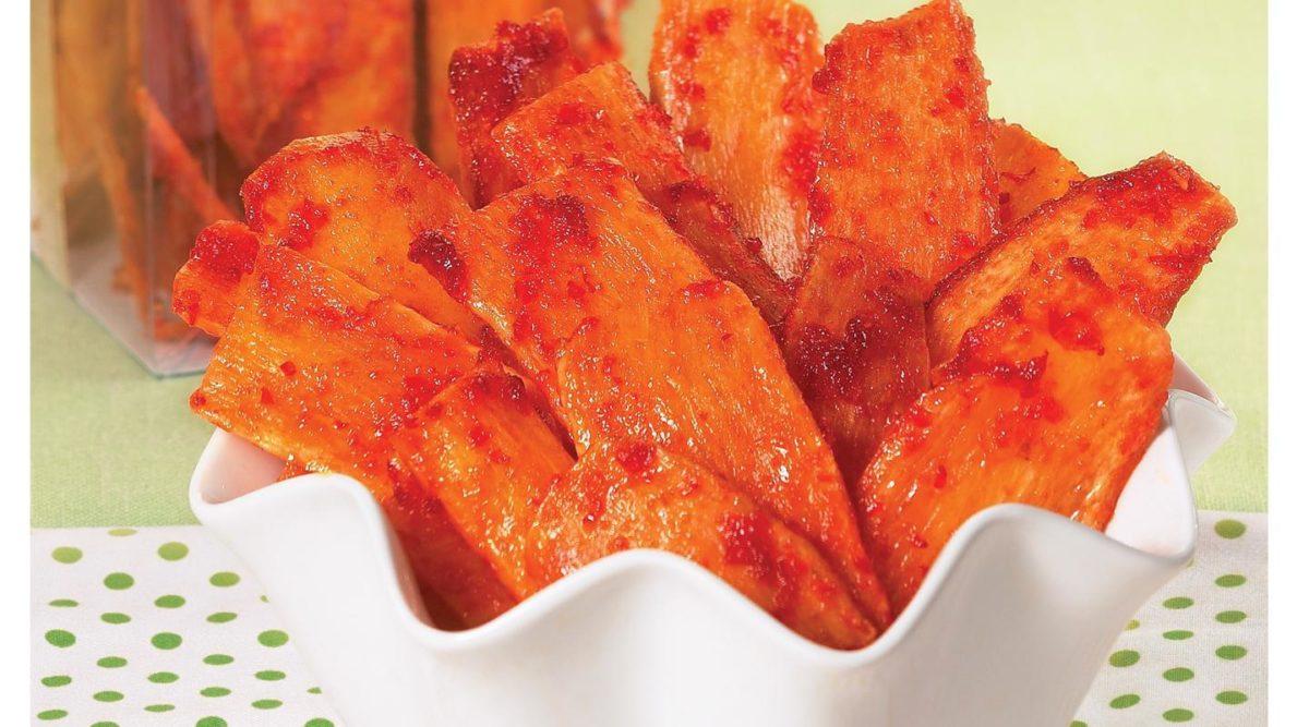 Resep keripik Singkong Pedas Bikin Bibir Makin Merah