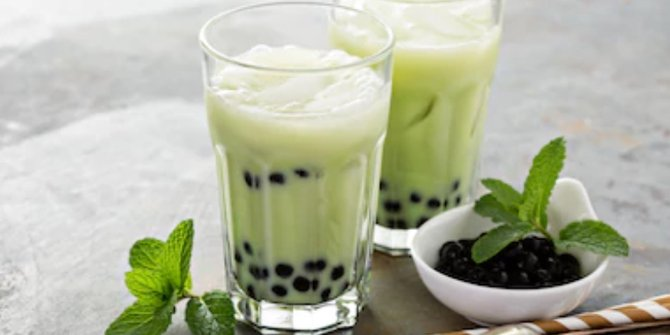 cara membuat es bubble milk tea