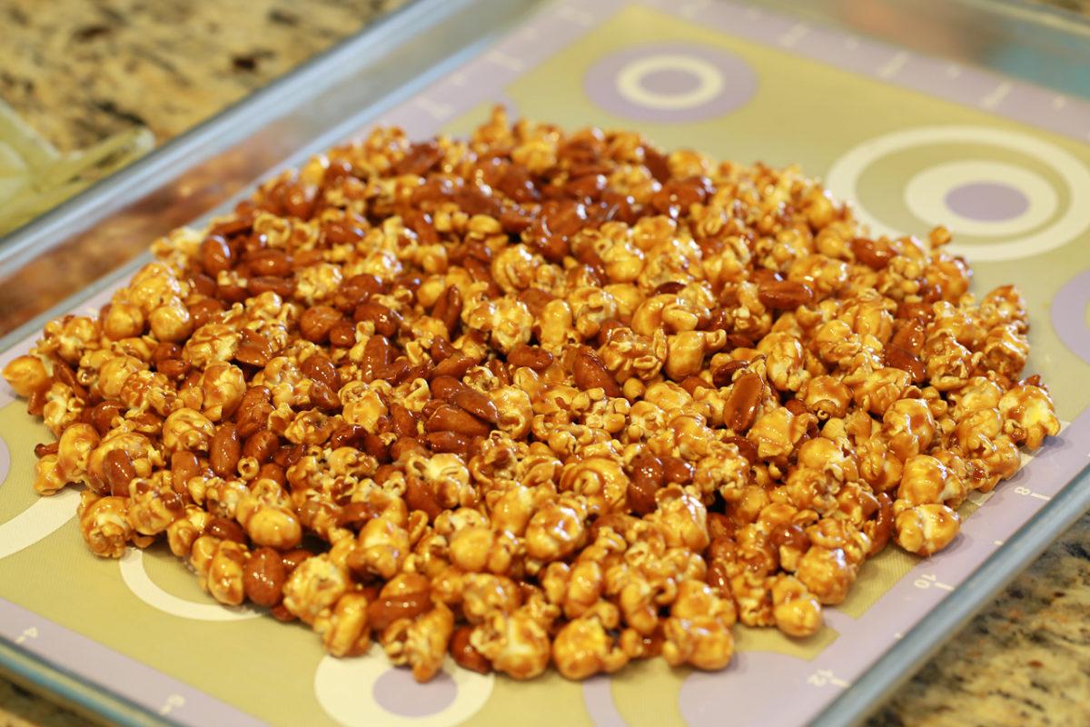 cara bikin popcorn manis