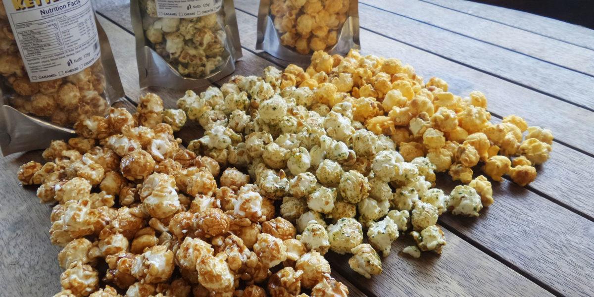 cara membuat popcorn rasa buah